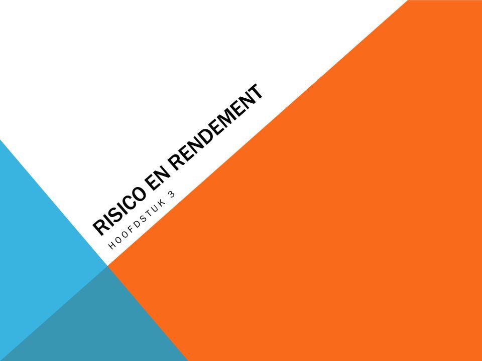 RISICO EN RENDEMENT HOOFDSTUK 3