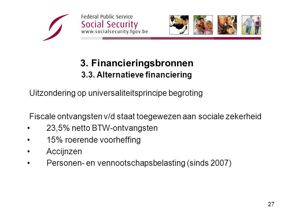 26 3.Financieringsbronnen 3.2. Staatstoelagen