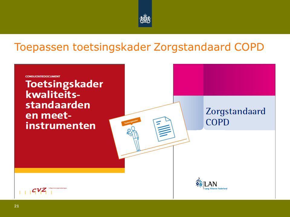 21 Toepassen toetsingskader Zorgstandaard COPD