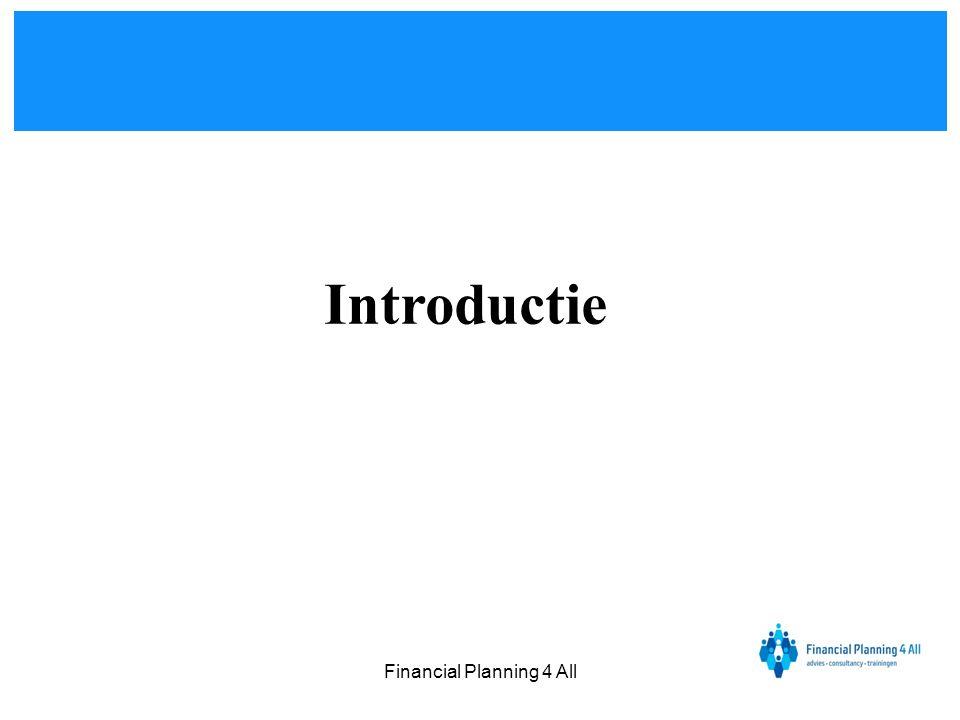 Financial Planning 4 All Bepalen van de prijs