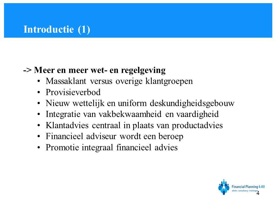 Financial Planning 4 All Methodes: •Concurrentiemethode •Doelgroepmethode •Terugrekenmethode •Kostprijs plusmethode Bepalen van de prijs