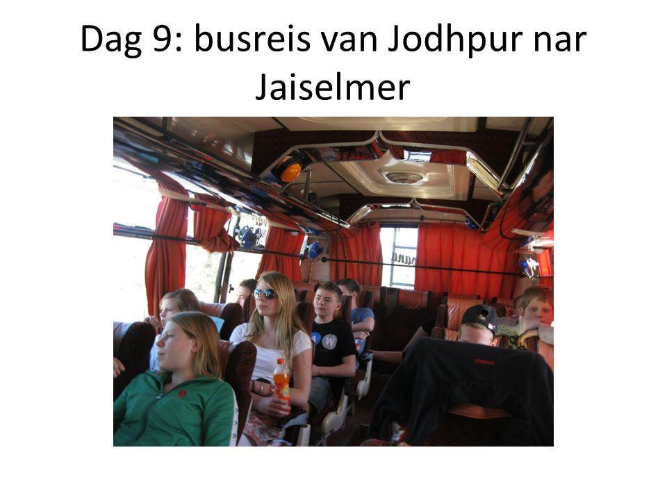 Dag 9: busreis van Jodhpur nar Jaiselmer