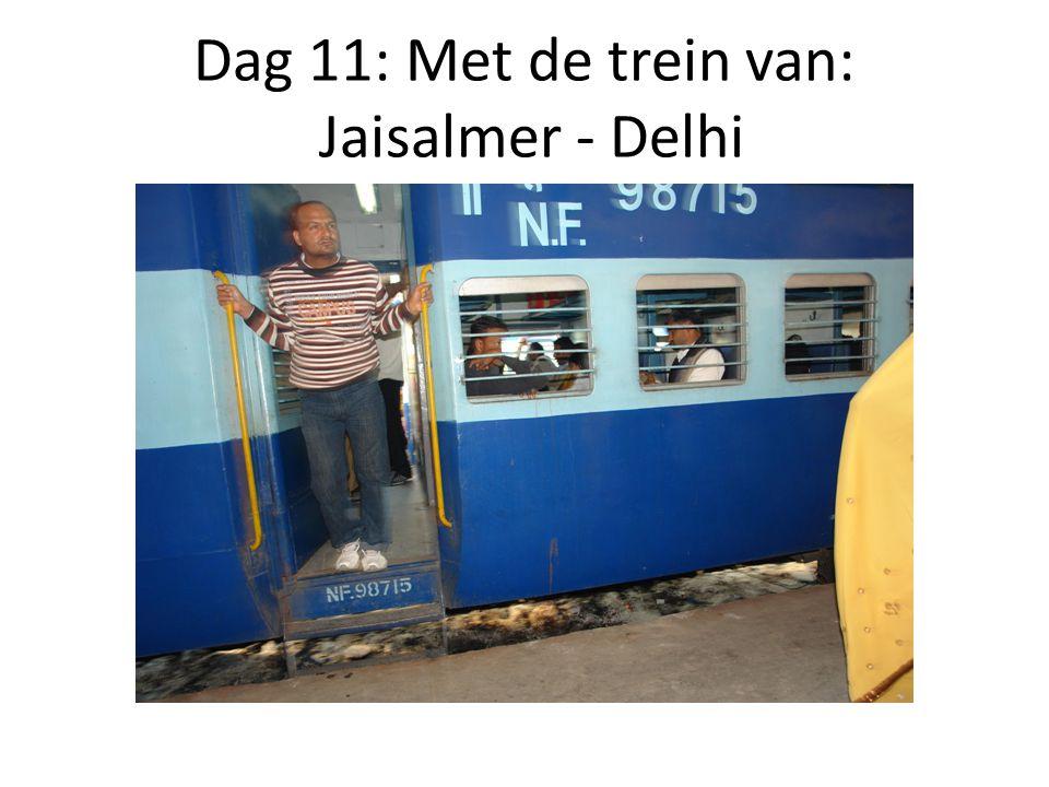 Dag 11: Met de trein van: Jaisalmer - Delhi