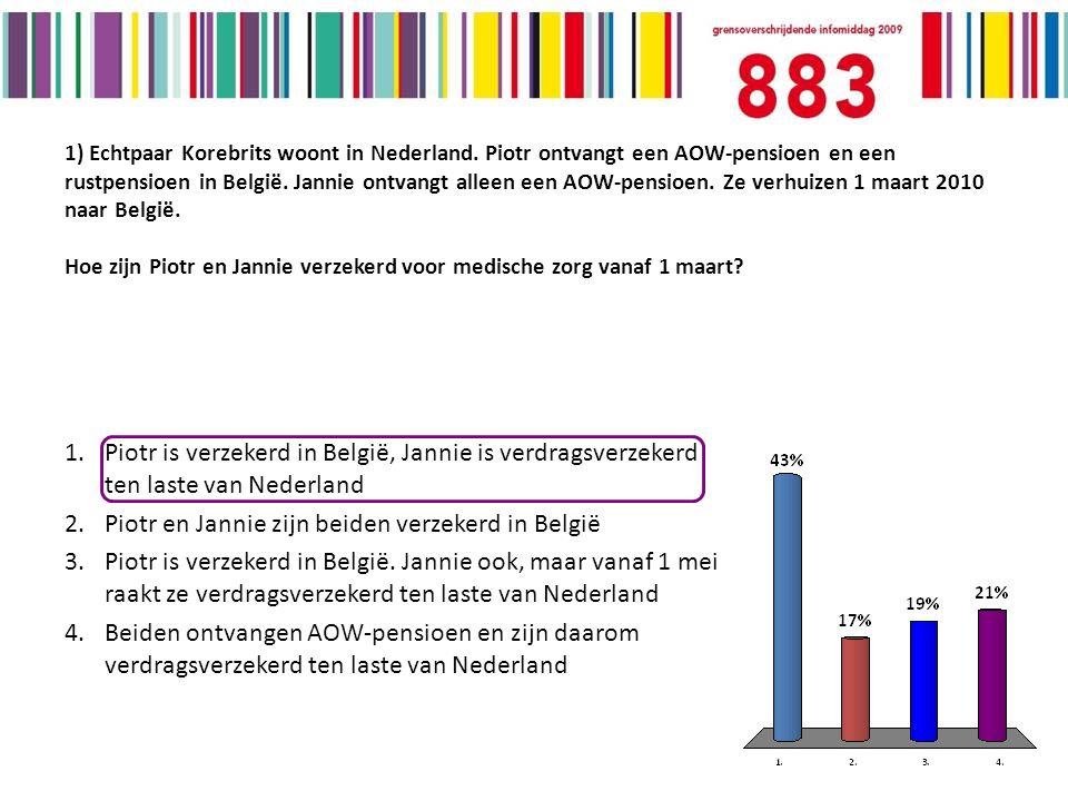 1) Echtpaar Korebrits woont in Nederland.