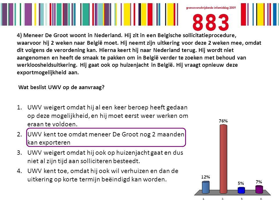 4) Meneer De Groot woont in Nederland.