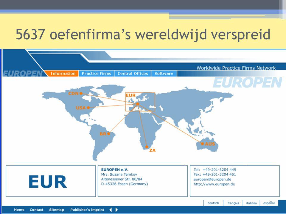 5637 oefenfirma's wereldwijd verspreid