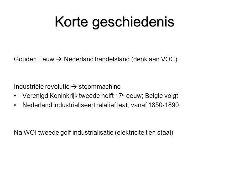 Korte geschiedenis Gouden Eeuw  Nederland handelsland (denk aan VOC) Industriële revolutie  stoommachine •Verenigd Koninkrijk tweede helft 17 e eeuw