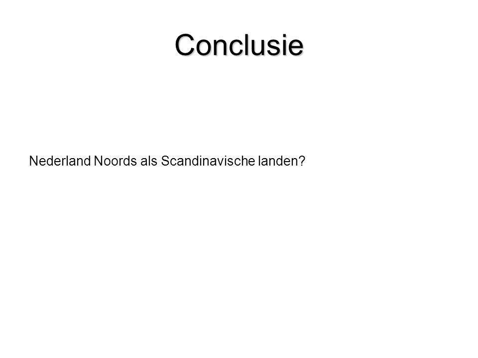 Conclusie Nederland Noords als Scandinavische landen?