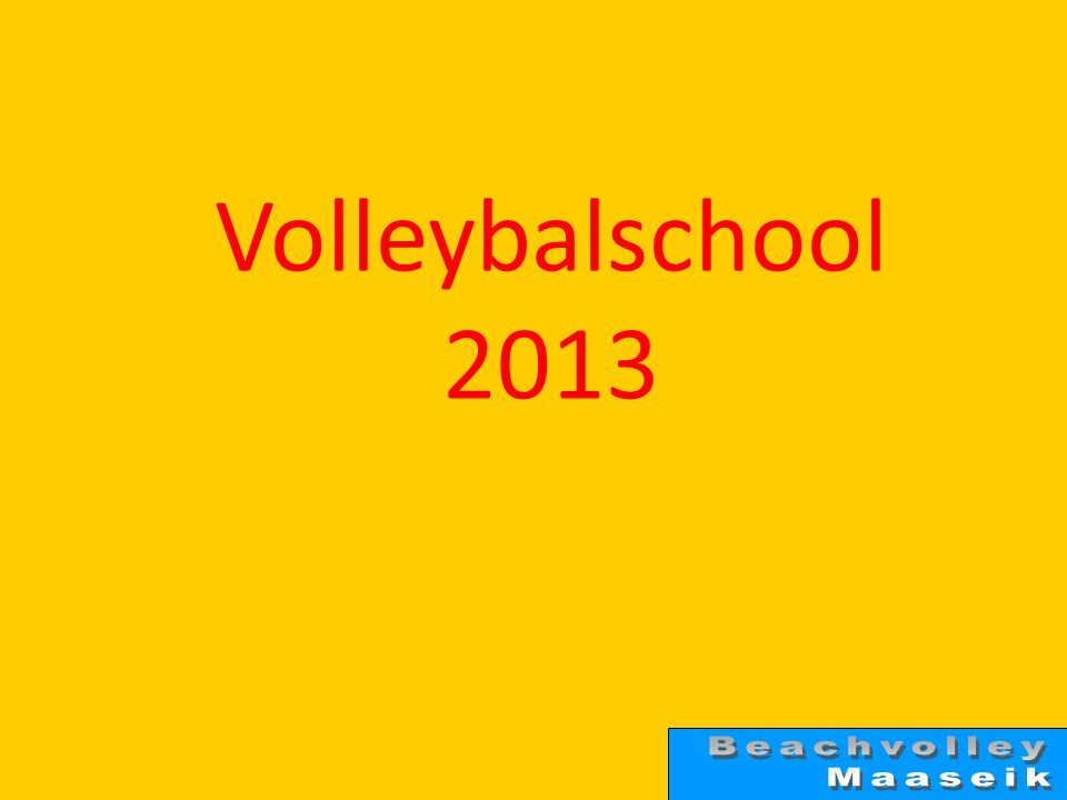 Volleybalschool 2013