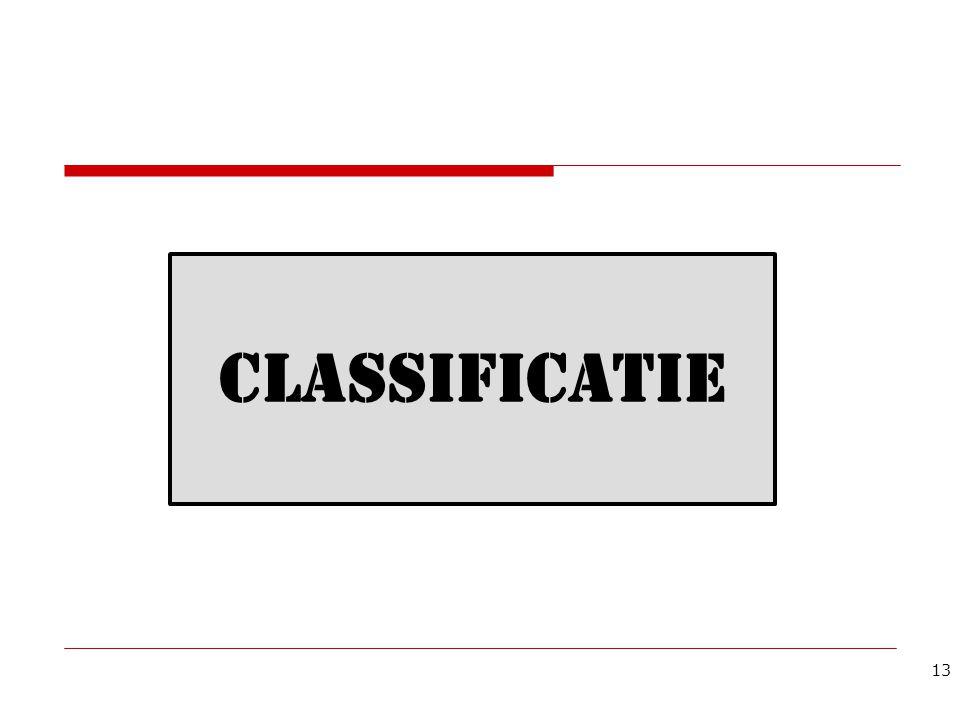 CLASSIFICATIE 13
