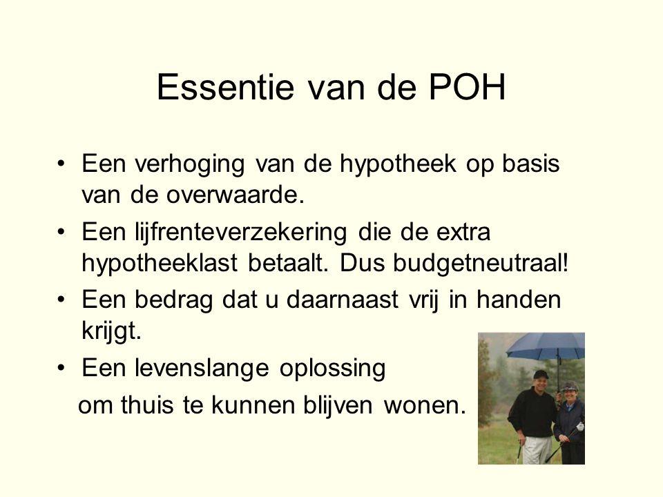 Essentie van de POH •Een verhoging van de hypotheek op basis van de overwaarde.