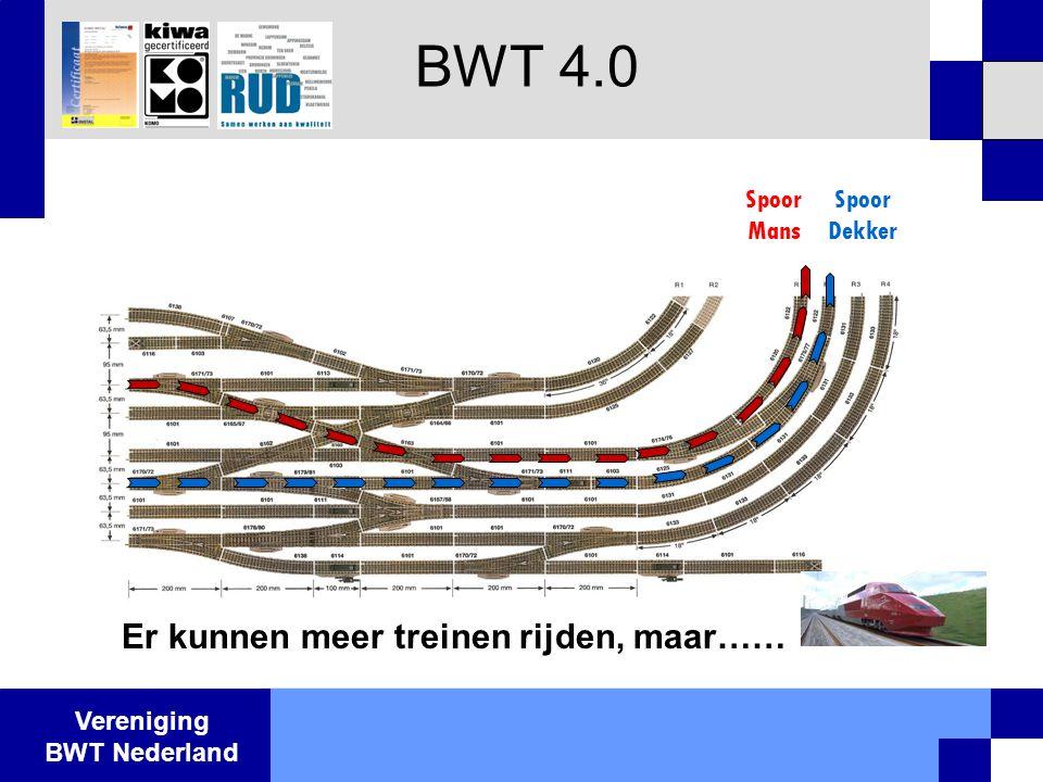 Vereniging BWT Nederland BWT 4.0 Spoor Mans Spoor Dekker Er kunnen meer treinen rijden, maar……