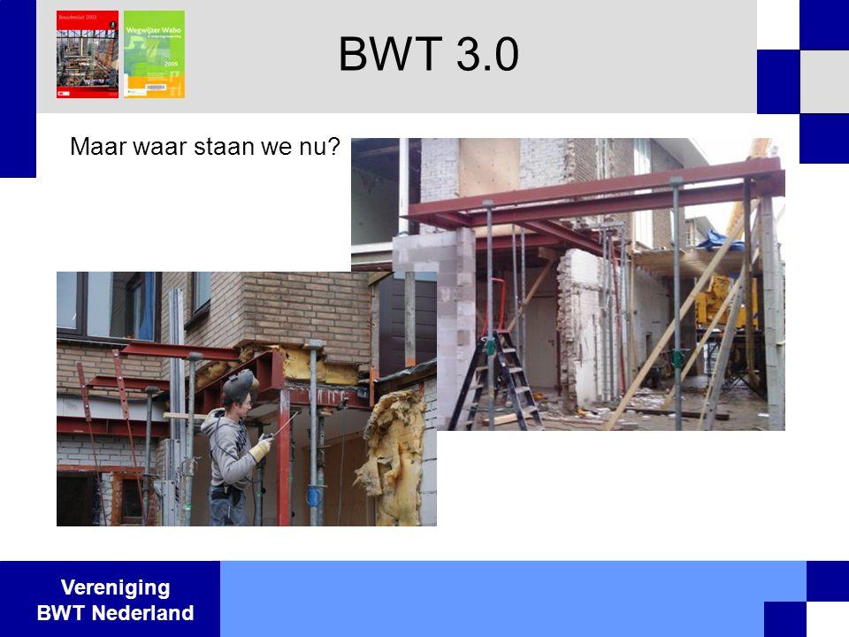 Vereniging BWT Nederland Maar waar staan we nu? BWT 3.0