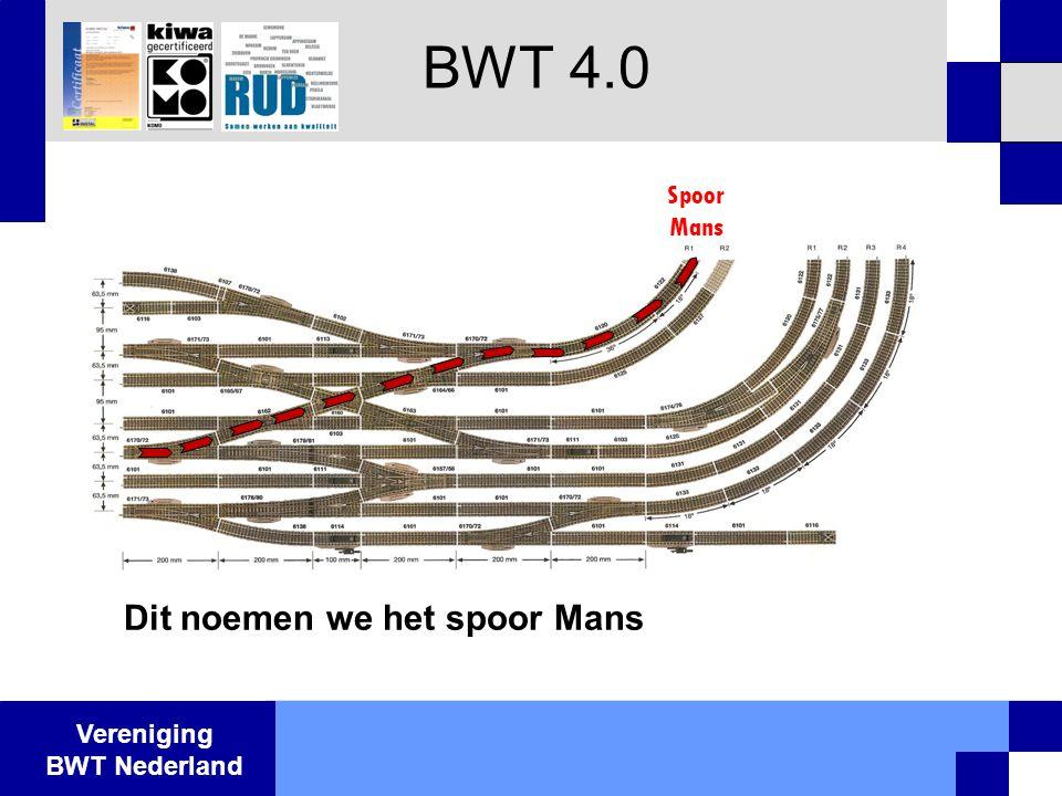 Vereniging BWT Nederland BWT 4.0 Spoor Mans Dit noemen we het spoor Mans