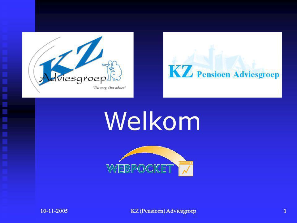 10-11-2005KZ (Pensioen) Adviesgroep1 Welkom