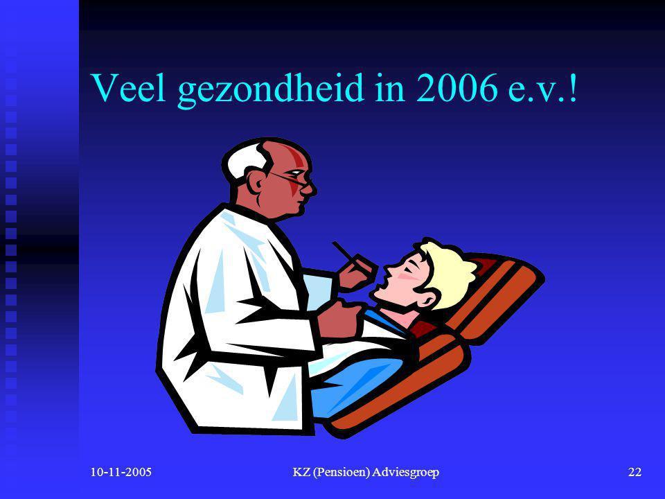 10-11-2005KZ (Pensioen) Adviesgroep21 Kosten voor werkgevers  Inkomens afhankelijke bijdrage voor de werknemers wordt betaald door de werkgever  Hoo