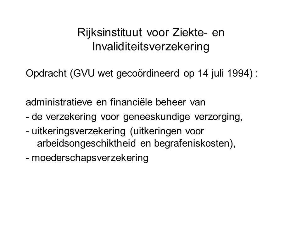Rijksinstituut voor Ziekte- en Invaliditeitsverzekering Opdracht (GVU wet gecoördineerd op 14 juli 1994) : administratieve en financiële beheer van -