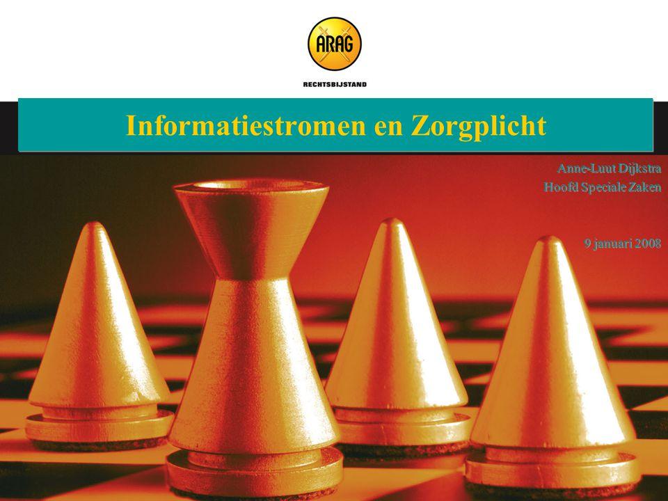 Veluwse Assurantieclub 9 januari 2008 Informatiestromen en Zorgplicht Anne-Luut Dijkstra Hoofd Speciale Zaken 9 januari 2008 Anne-Luut Dijkstra Hoofd
