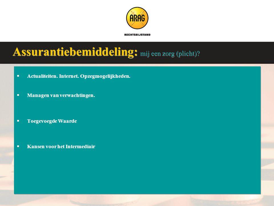 Veluwse Assurantieclub 9 januari 2008  Actualiteiten. Internet. Opzegmogelijkheden.  Managen van verwachtingen.  Toegevoegde Waarde  Kansen voor h