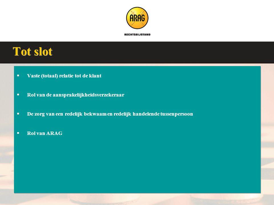Veluwse Assurantieclub 9 januari 2008  Vaste (totaal) relatie tot de klant  Rol van de aansprakelijkheidsverzekeraar  De zorg van een redelijk bekw