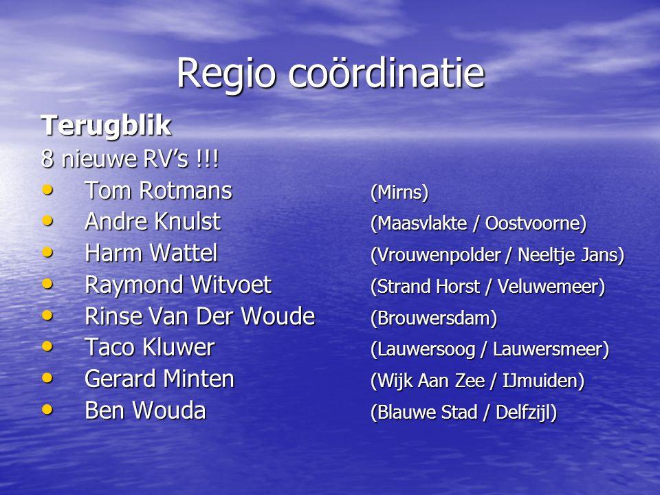Regio coördinatie Terugblik 8 nieuwe RV's !!.