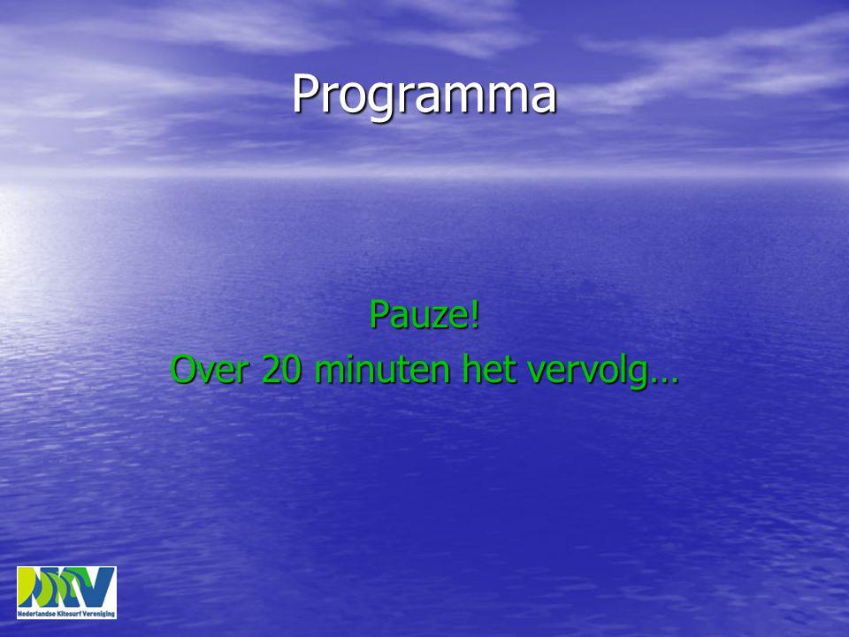 Programma Pauze! Over 20 minuten het vervolg…