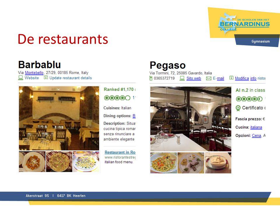 De restaurants