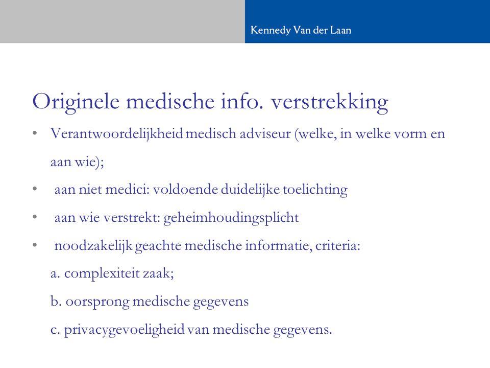 Originele medische info.