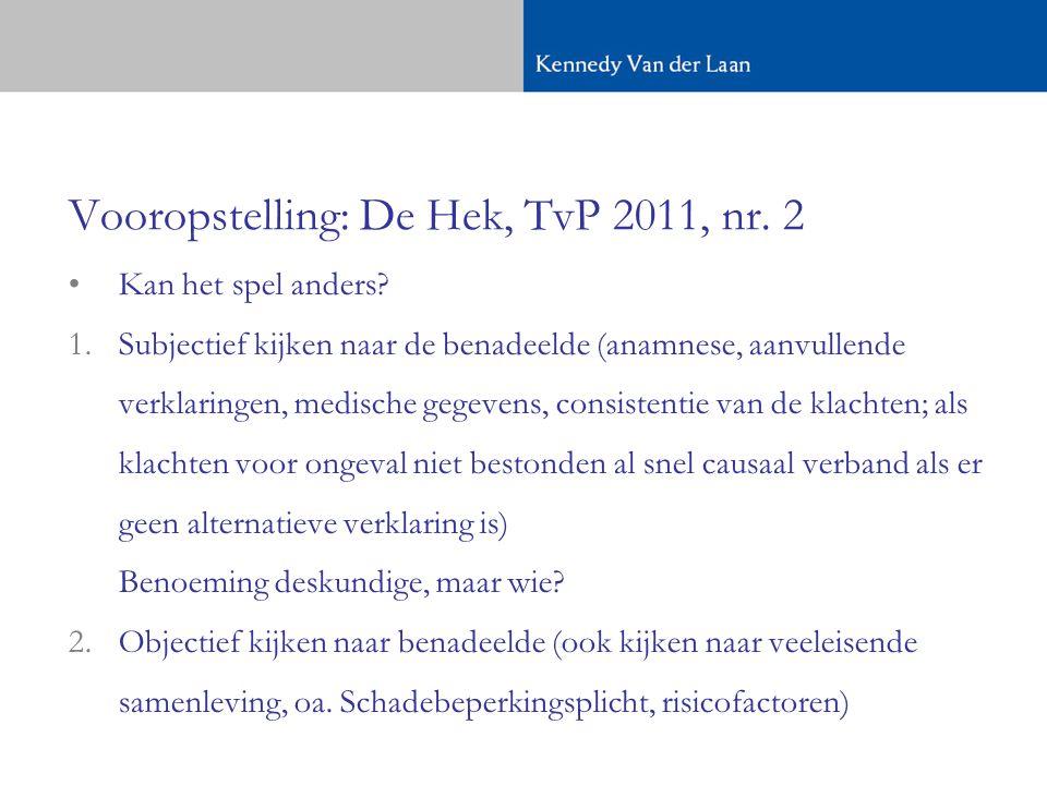Vooropstelling: De Hek, TvP 2011, nr.2 •Kan het spel anders.