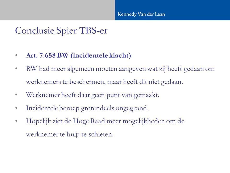 Conclusie Spier TBS-er •Art.
