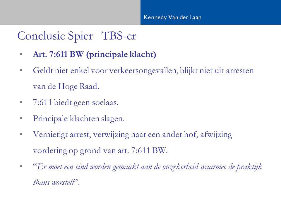 Conclusie SpierTBS-er •Art.