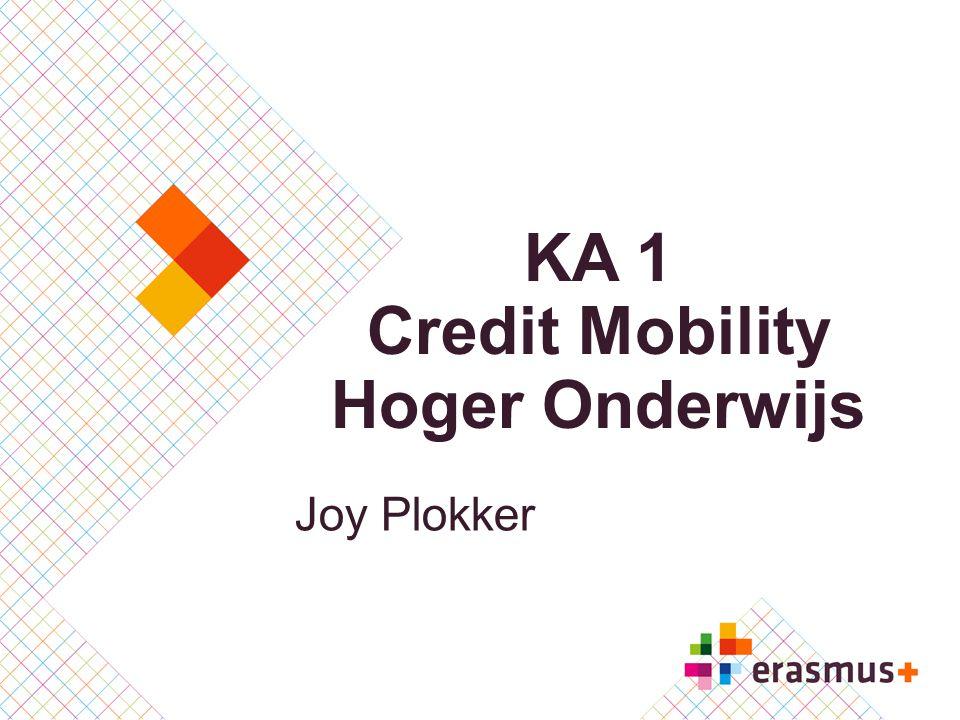 KA 1 Credit Mobility Hoger Onderwijs Joy Plokker