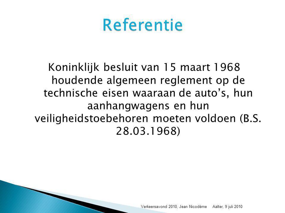 Koninklijk besluit van 15 maart 1968 houdende algemeen reglement op de technische eisen waaraan de auto's, hun aanhangwagens en hun veiligheidstoebeho