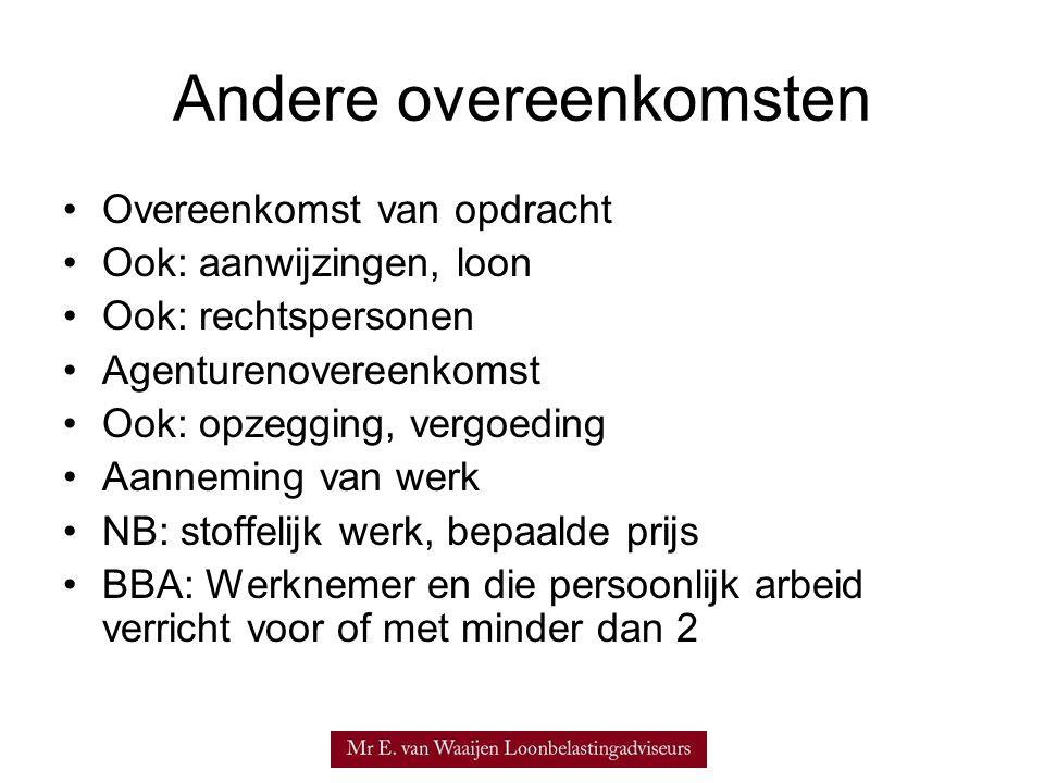 Management BV •HR 08.12.1943, B 7745 gezagsverhouding •Wnv: Reg.