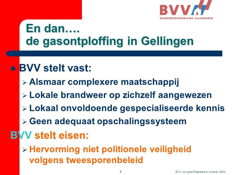 BVV– congres Roeselare 9 oktober -2004 4 En dan….