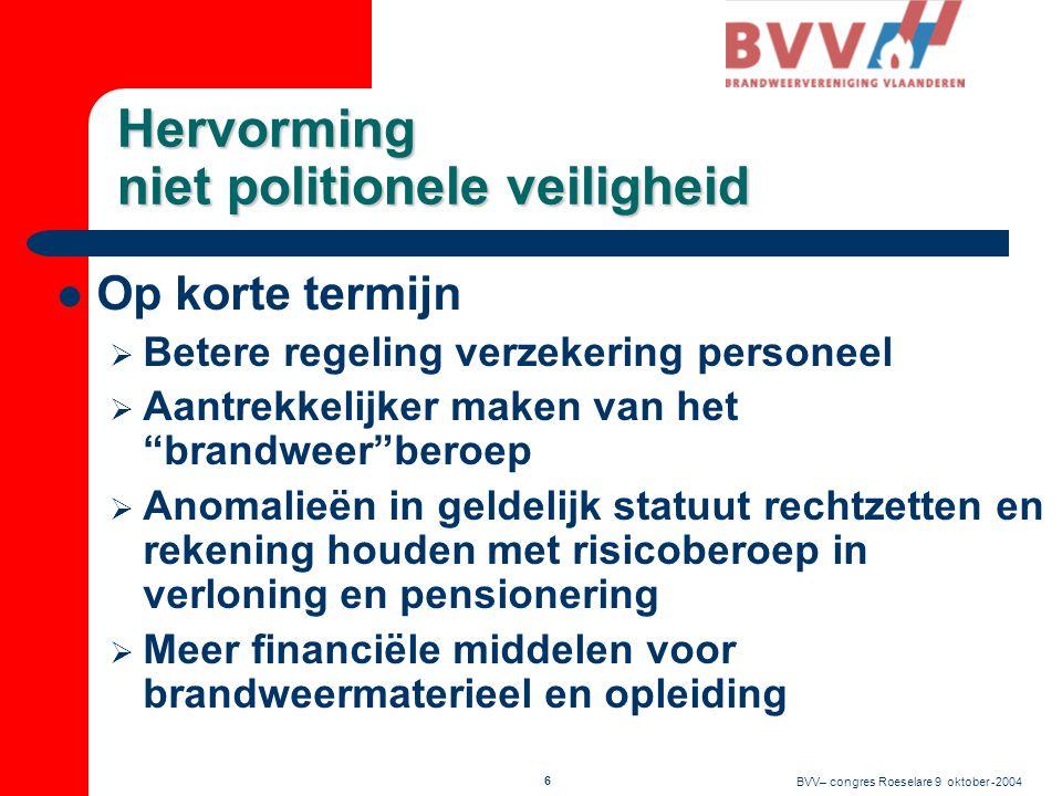 BVV– congres Roeselare 9 oktober -2004 5 En dan….