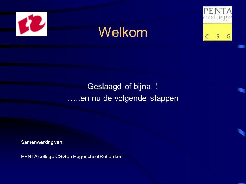 Programma plenair •Opening:Geslaagd …de volgende stappen Mevr.A Huurman en A.