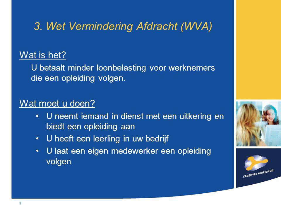 8 3. Wet Vermindering Afdracht (WVA) Wat is het.