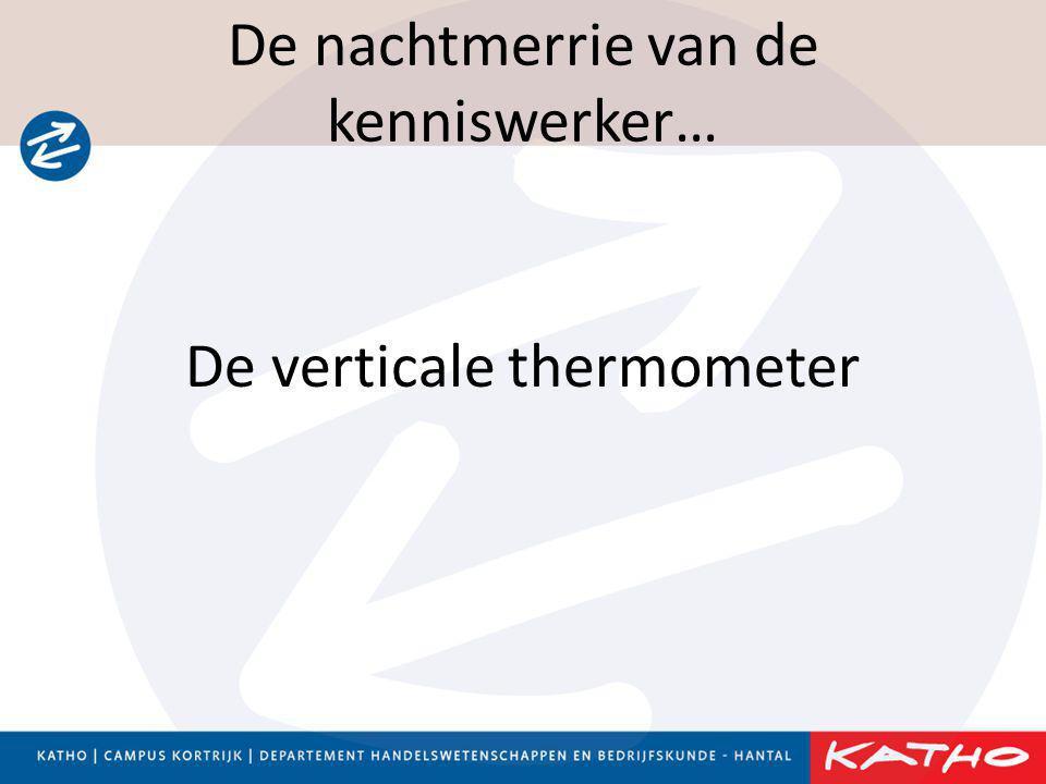 De nachtmerrie van de kenniswerker… De verticale thermometer