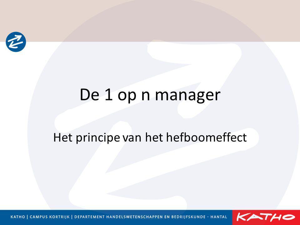 De 1 op n manager Het principe van het hefboomeffect