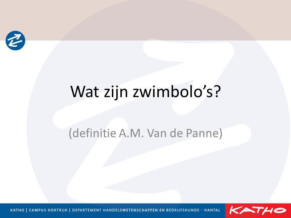 Wat zijn zwimbolo's? (definitie A.M. Van de Panne)