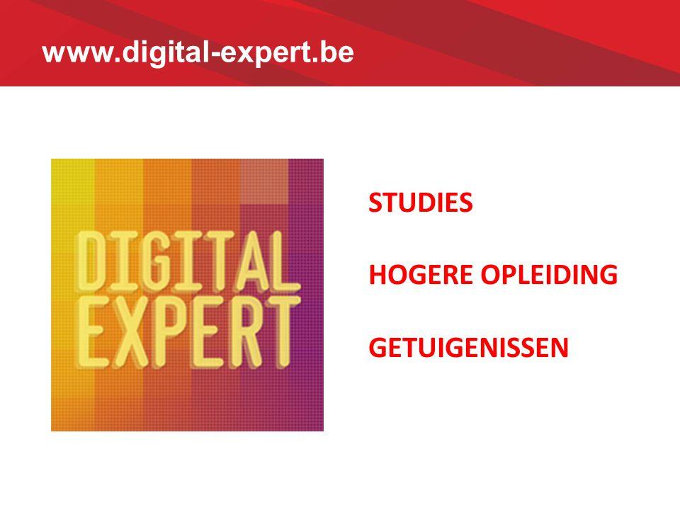 www.digital-expert.be STUDIES HOGERE OPLEIDING GETUIGENISSEN