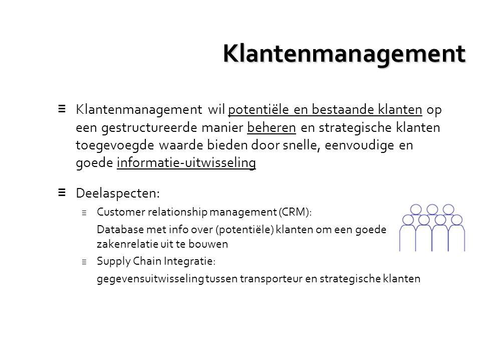 Klantenmanagement ≡ Klantenmanagement wil potentiële en bestaande klanten op een gestructureerde manier beheren en strategische klanten toegevoegde wa