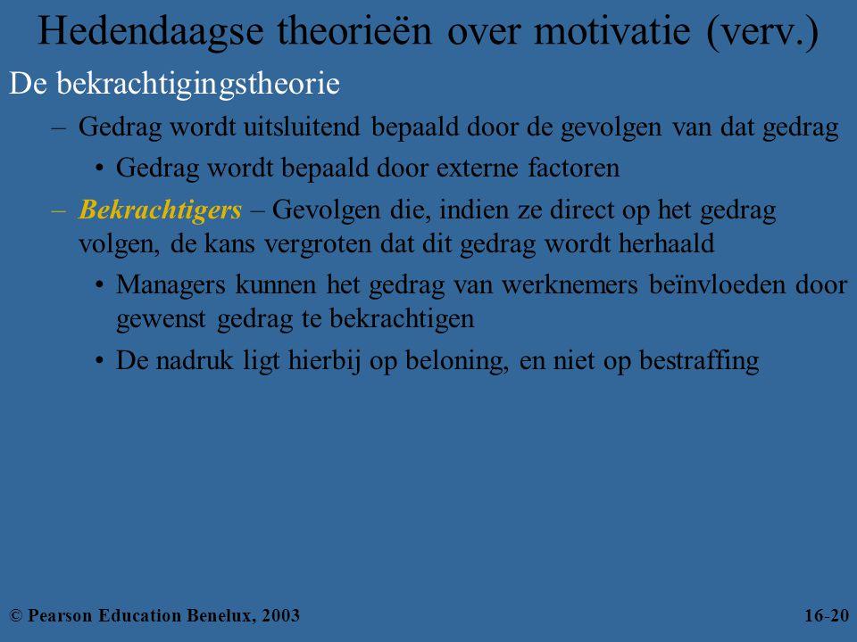 De bekrachtigingstheorie –Gedrag wordt uitsluitend bepaald door de gevolgen van dat gedrag •Gedrag wordt bepaald door externe factoren –Bekrachtigers