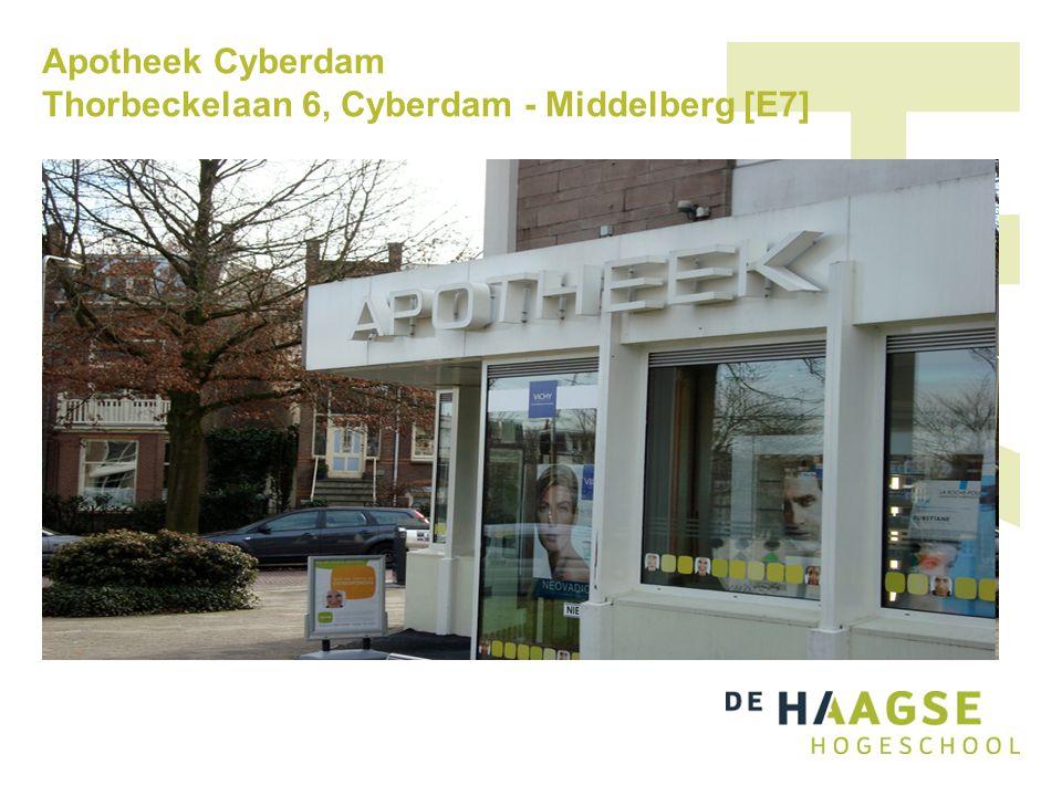 Apotheek Cyberdam Thorbeckelaan 6, Cyberdam - Middelberg [E7]