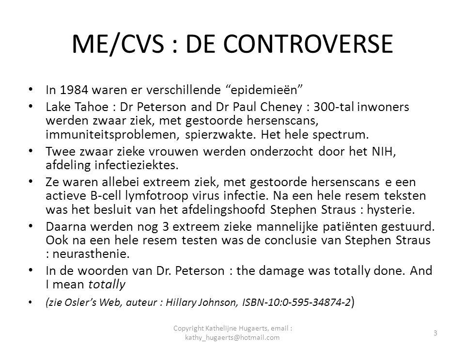 ME/CVS : DE CONTROVERSE • Dr Straus heeft nooit de resultaten van de testen van het NIH willen vrijgeven, zelfs niet na een aanklacht op basis van de Freedom of Information Act.