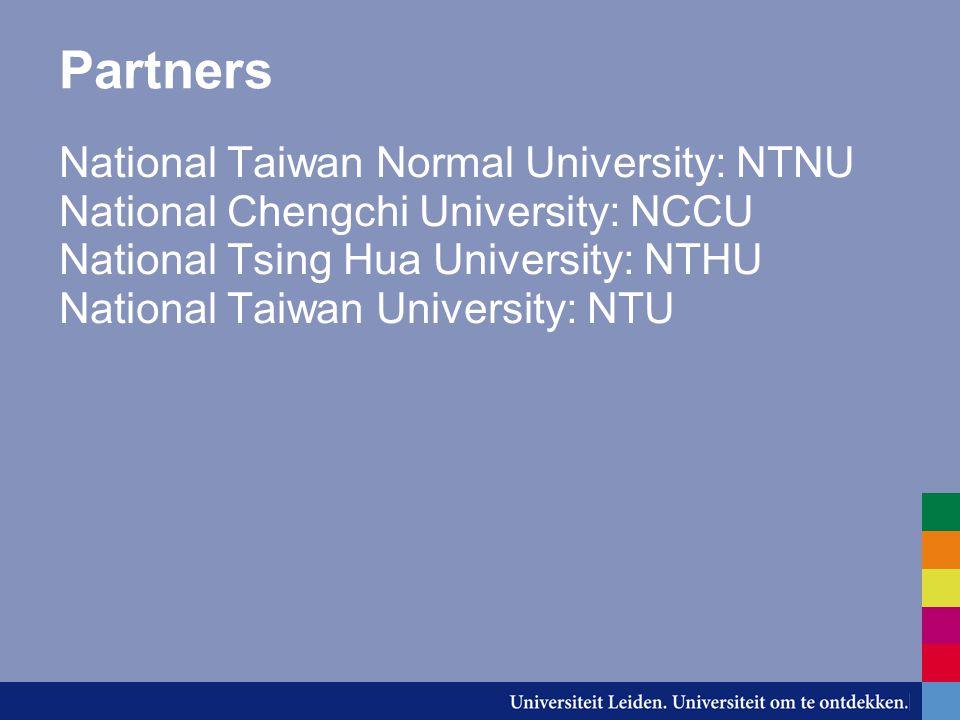 NTNU, Taipei -8 bachelor beurzen -10 maanden -Vrijstelling collegegeld bij NTNU -Gratis huisvesting op de campus -Gratis medische verzekering -Maandelijkse toelage van NT$ 10.000 (€ 215)