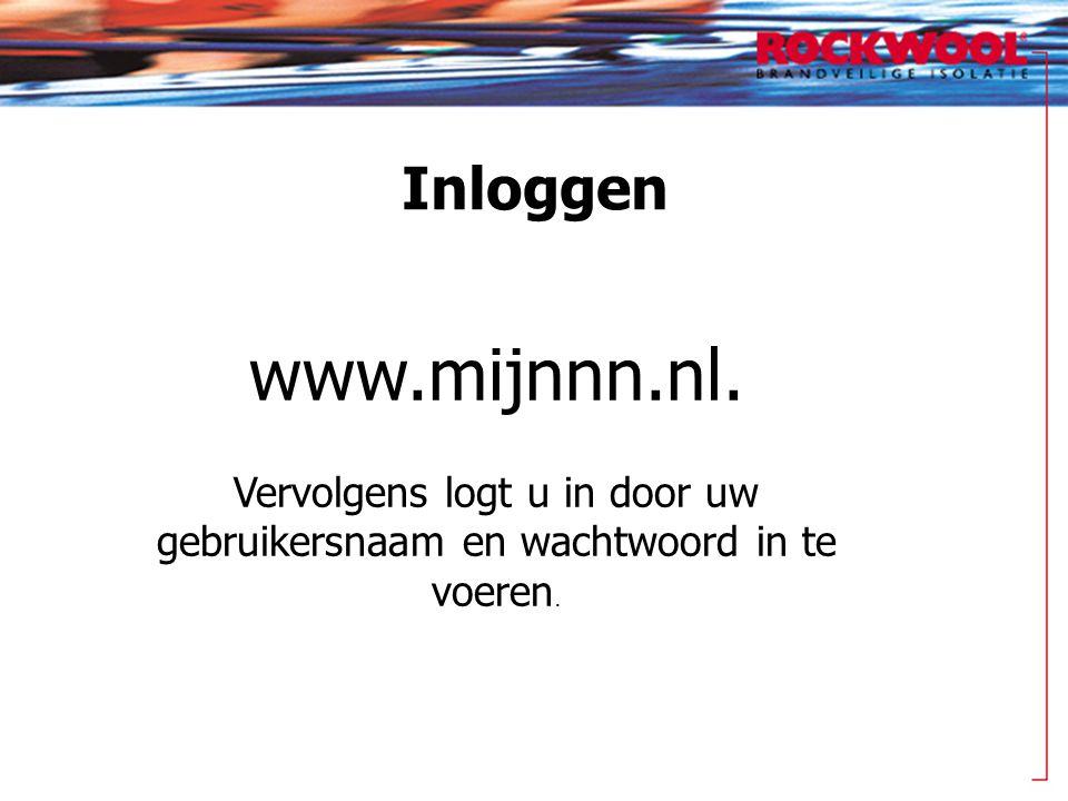 Inloggen www.mijnnn.nl. Vervolgens logt u in door uw gebruikersnaam en wachtwoord in te voeren.
