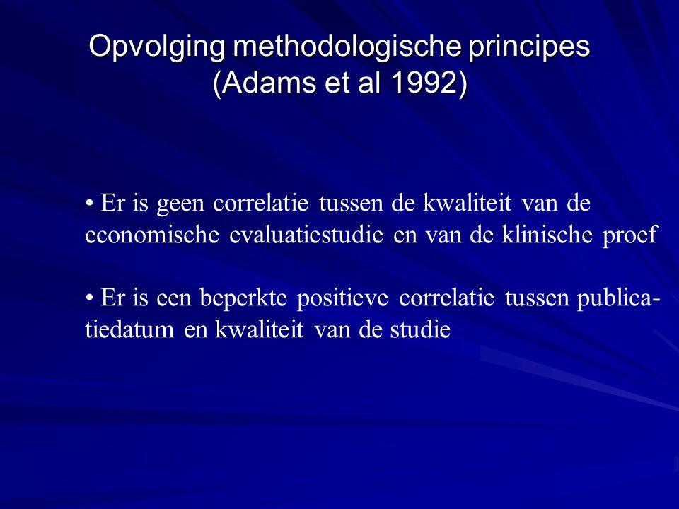 • Er is geen correlatie tussen de kwaliteit van de economische evaluatiestudie en van de klinische proef • Er is een beperkte positieve correlatie tus