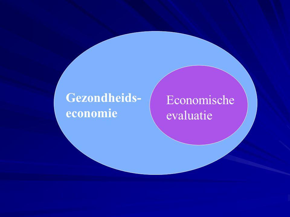 Gezondheids- economie Economische evaluatie